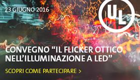 Il Convegno il Flicker Ottico Nell'Illuminazione a LED